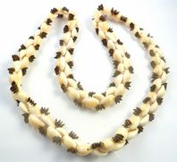 Boho Chunky Cowrie Sheel And Seed Necklace.